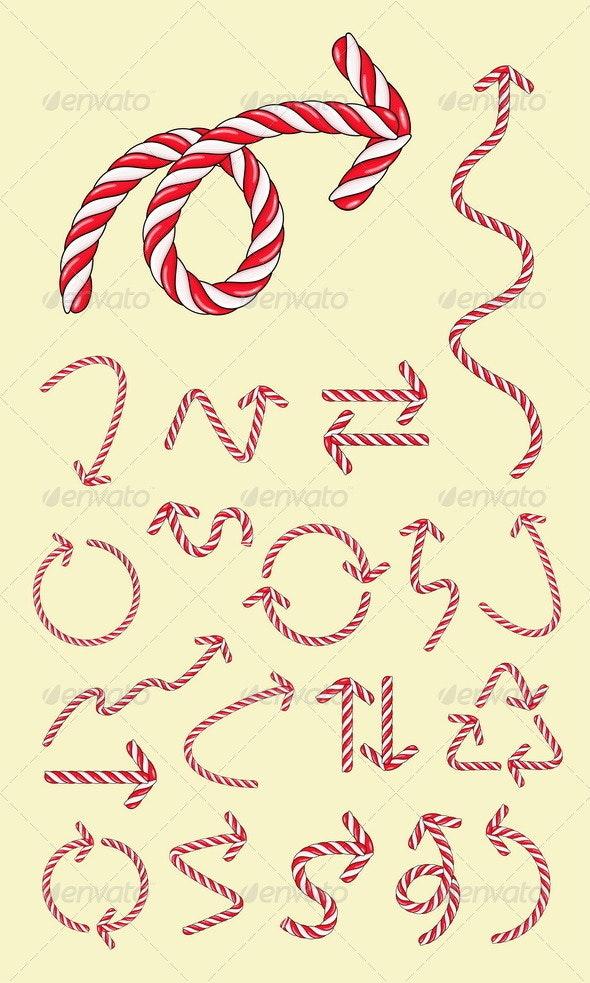 20 Arrow Candy Vectors - Decorative Symbols Decorative