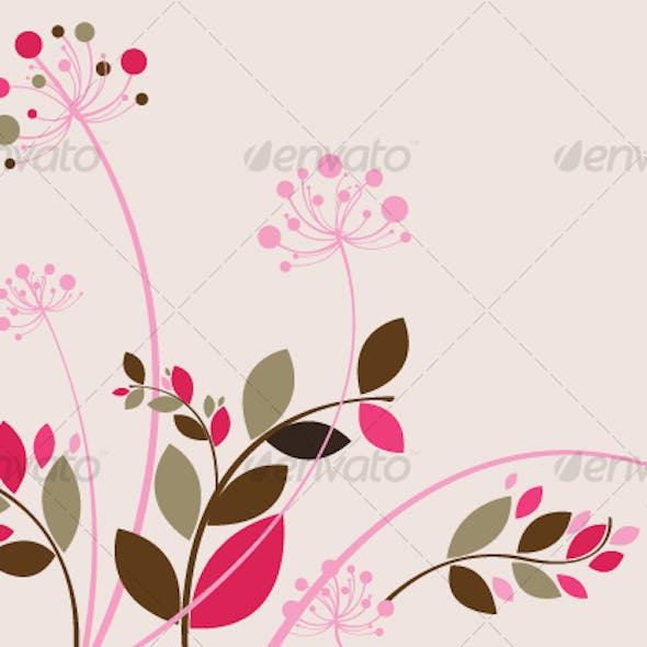 Beautiful Floral Background in Soft Pink