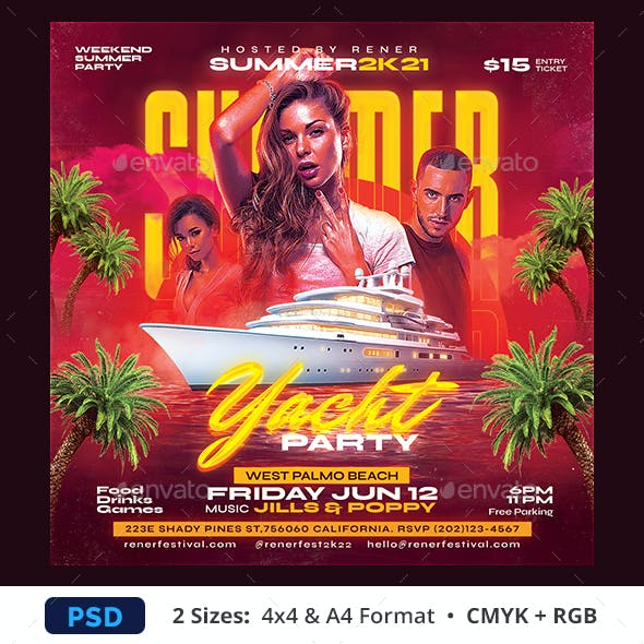 Yacht Party Summer Flyer