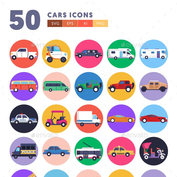 50 Cars Icons