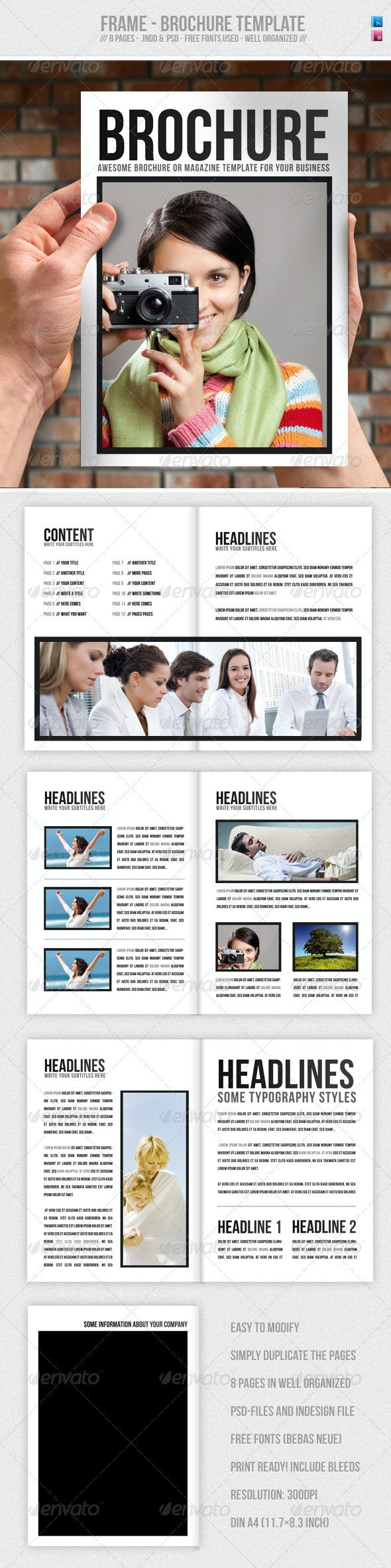 Frame - Brochure / Presentation Template  - Corporate Brochures