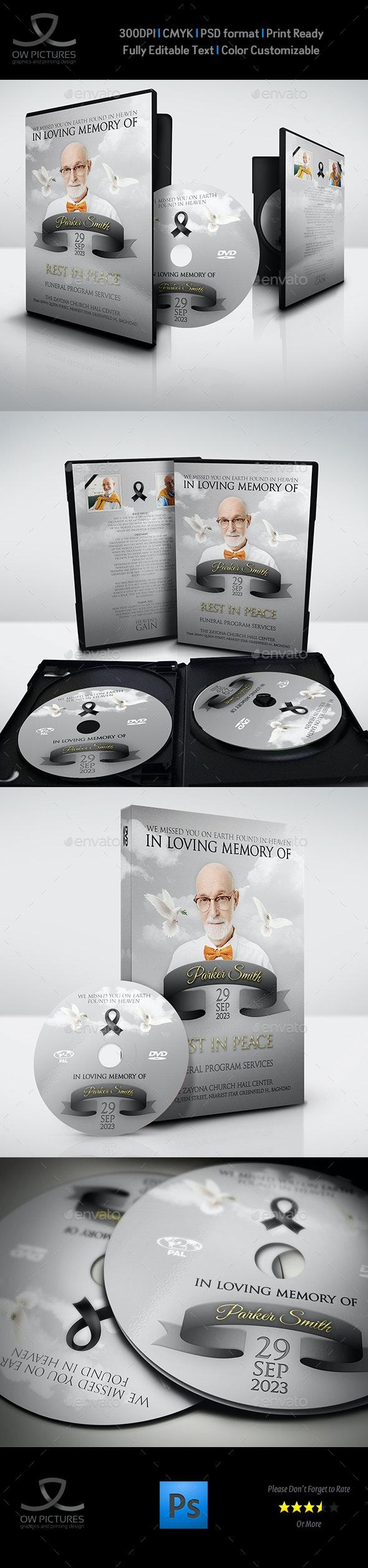 Memorial and Funeral Ceremonies Template Vol.2 - CD & DVD Artwork Print Templates