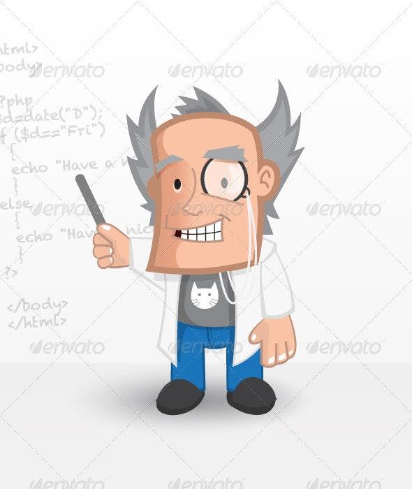 Web Professor - People Characters
