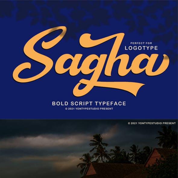 Sagha A Bold Script Typeface
