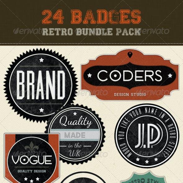 Retro Badges - Vintage Labels Bundle