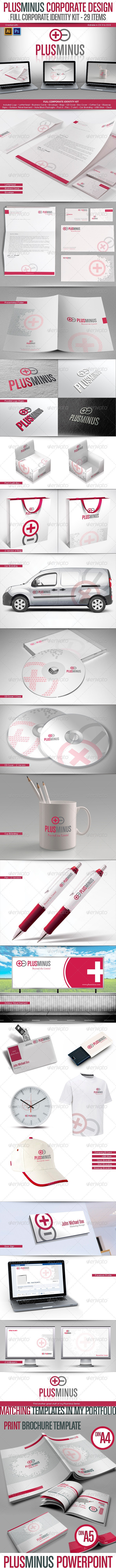 Full Corporate Identity Kit - Plusminus Series - Stationery Print Templates
