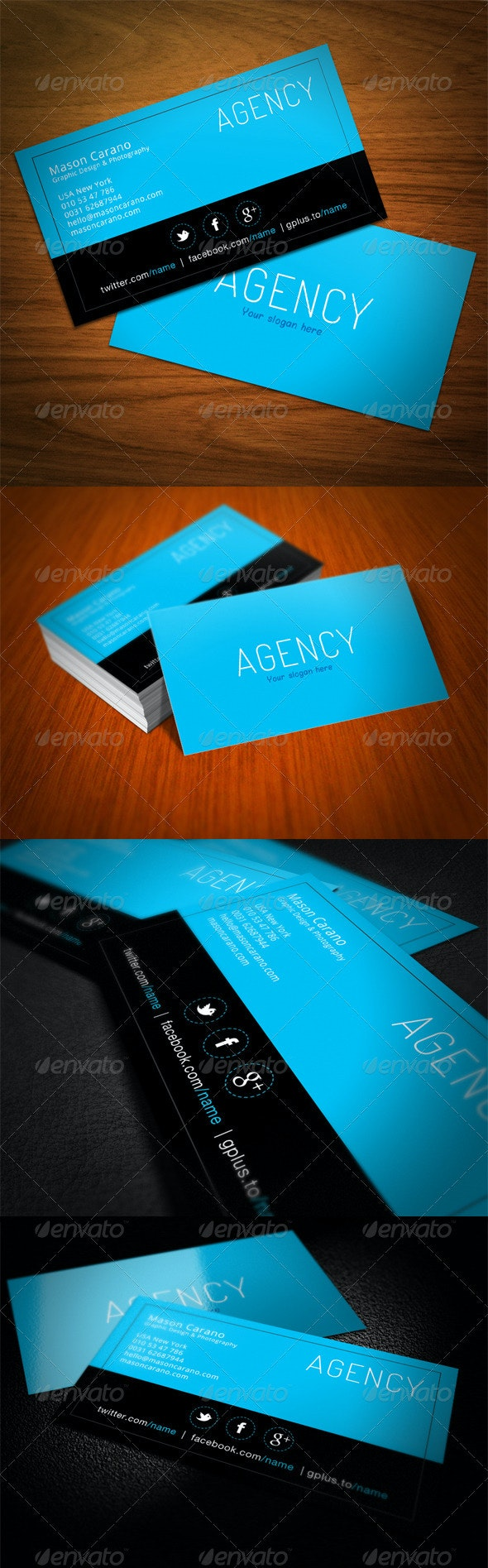 Agency Business Card - Corporate Business Cards