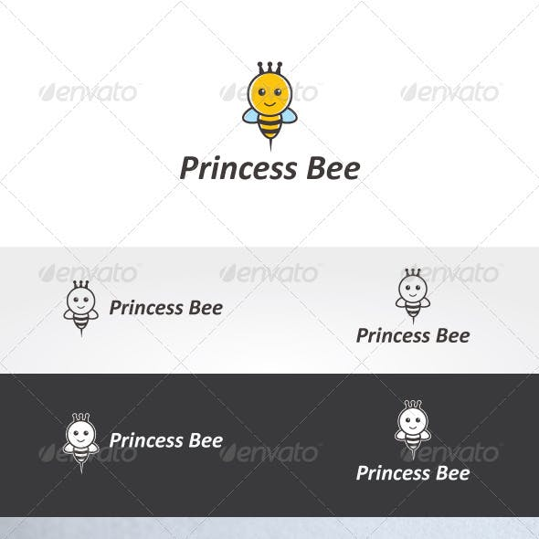 Princess Bee Logo Template