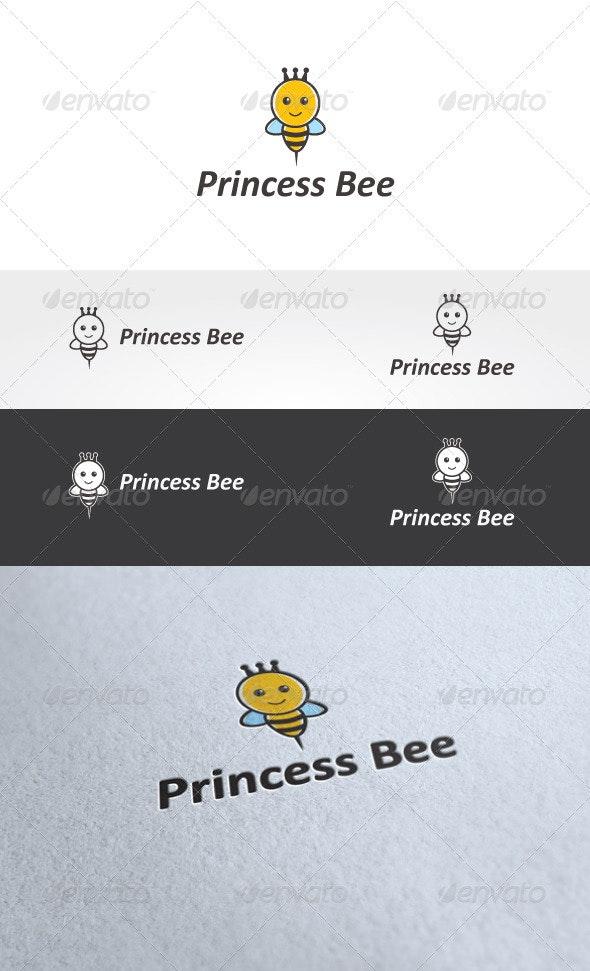 Princess Bee Logo Template - Animals Logo Templates