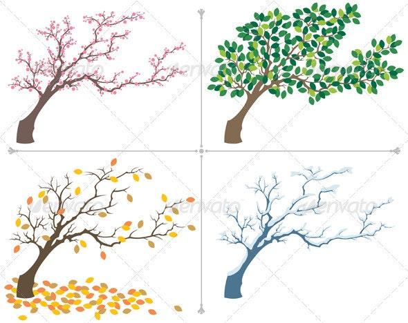 Seasons - Flourishes / Swirls Decorative