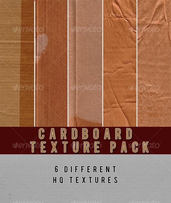 Cardboard Texture Pack - Industrial / Grunge Textures