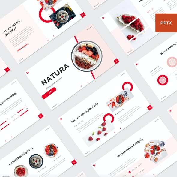 NATURA - Healthy food PowerPoint Template