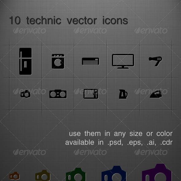 10 tech vectro icons