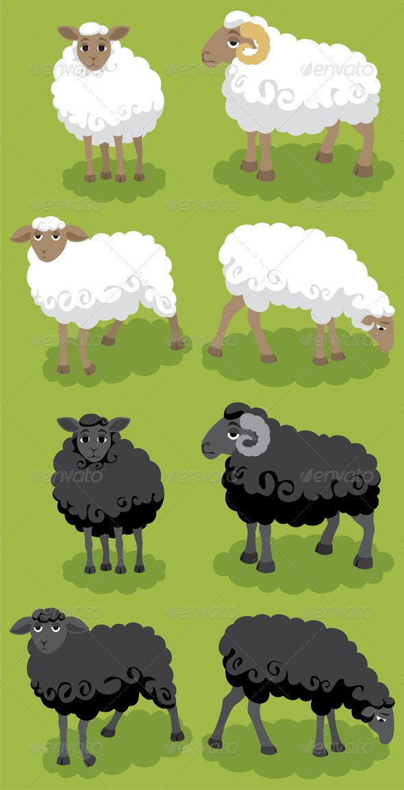 Sheep - Characters Vectors