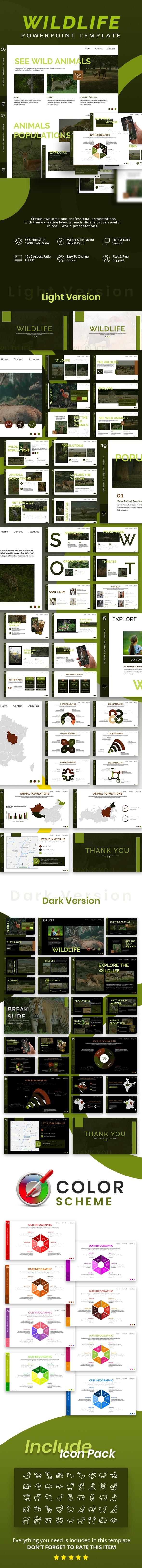 Wildlife Animal Keynote Template - Nature Keynote Templates