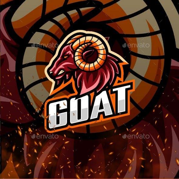 Goat E-Sport and Sport Logo Template