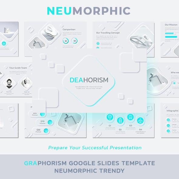 Deaphorism Google Slides Template Neumorphism Trendy