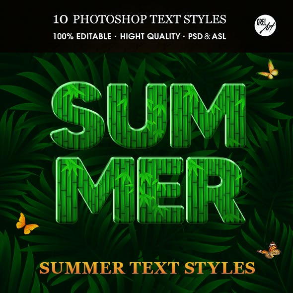 Summer Text Styles