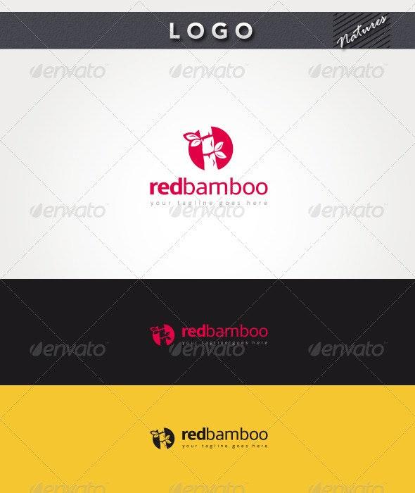 Red Bamboo Logo - Nature Logo Templates