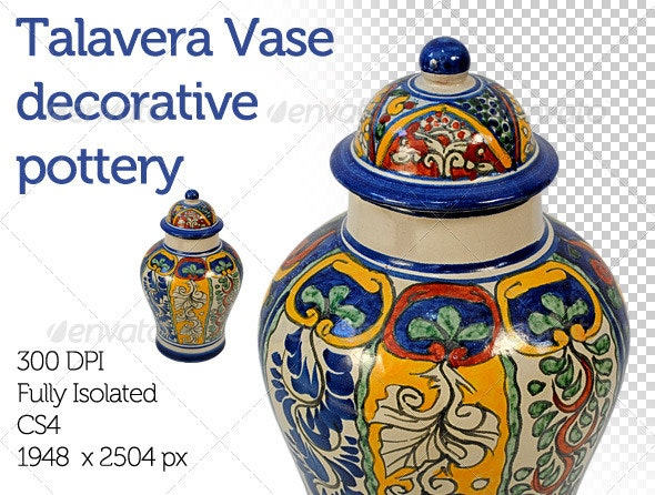 Mexican Folkloric Vase - Home & Office Isolated Objects