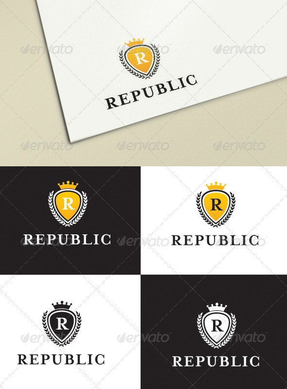 Republic Luxury Logo Templates - Crests Logo Templates