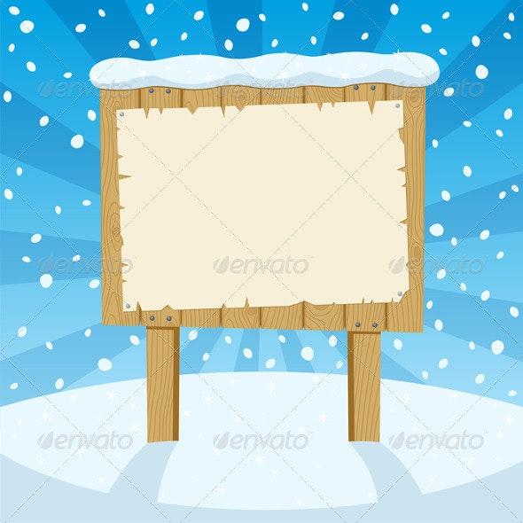 Sign & Snow - Seasons/Holidays Conceptual