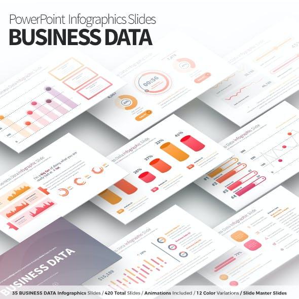 Business Data - PowerPoint Infographics Slides