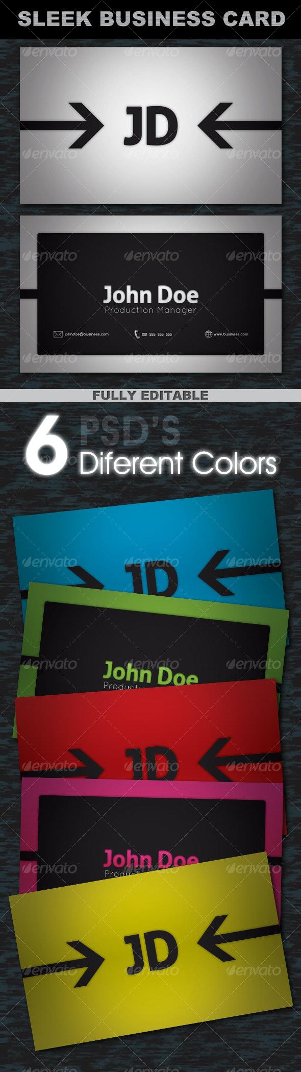 Sleek Business Card - 6 Diferent Colors - Creative Business Cards