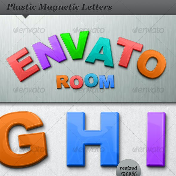Plastic magnetic abc letters and numbers