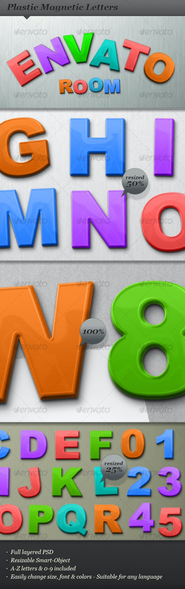 Plastic magnetic abc letters and numbers - Miscellaneous Graphics