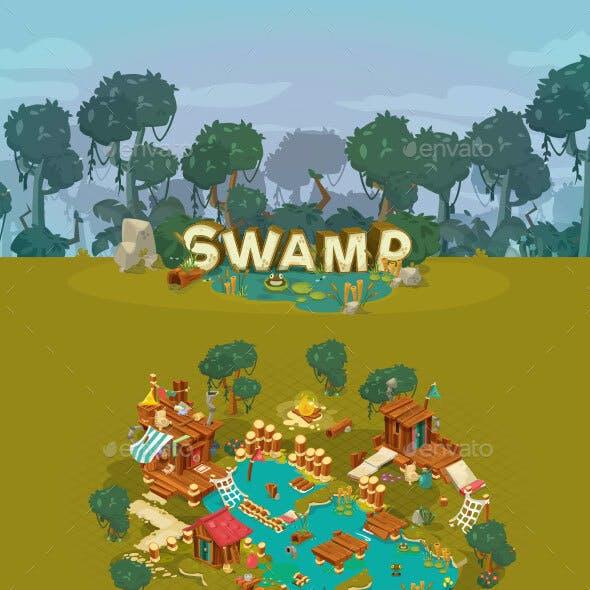Swamp - Game Assets
