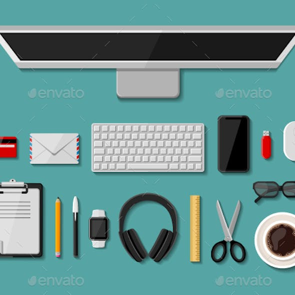 Modern business office workplace