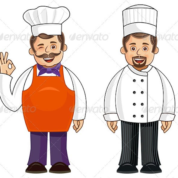 Chef in 2 Outfits and Poses