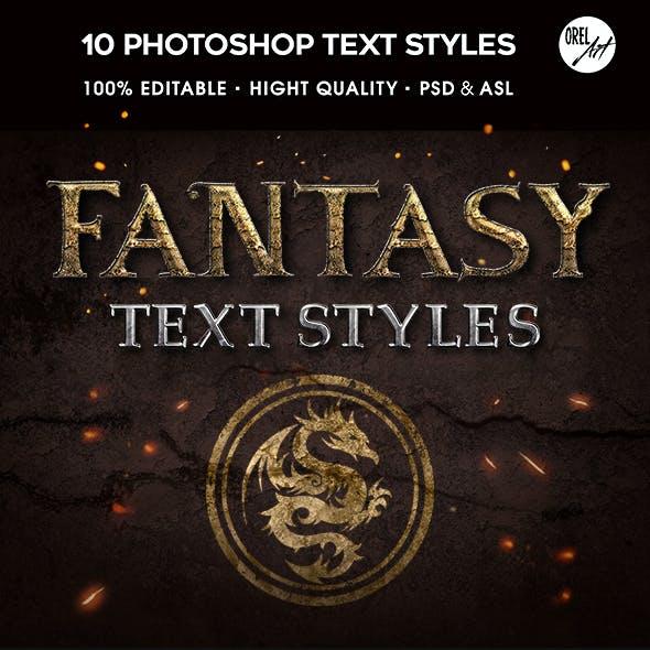 Epic Fantasy Text Styles