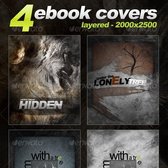 4 eBook Templates - vertical - 2000x2500 - layered