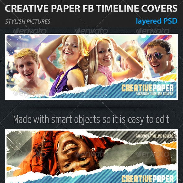 Creative Paper Facebook Timeline Covers