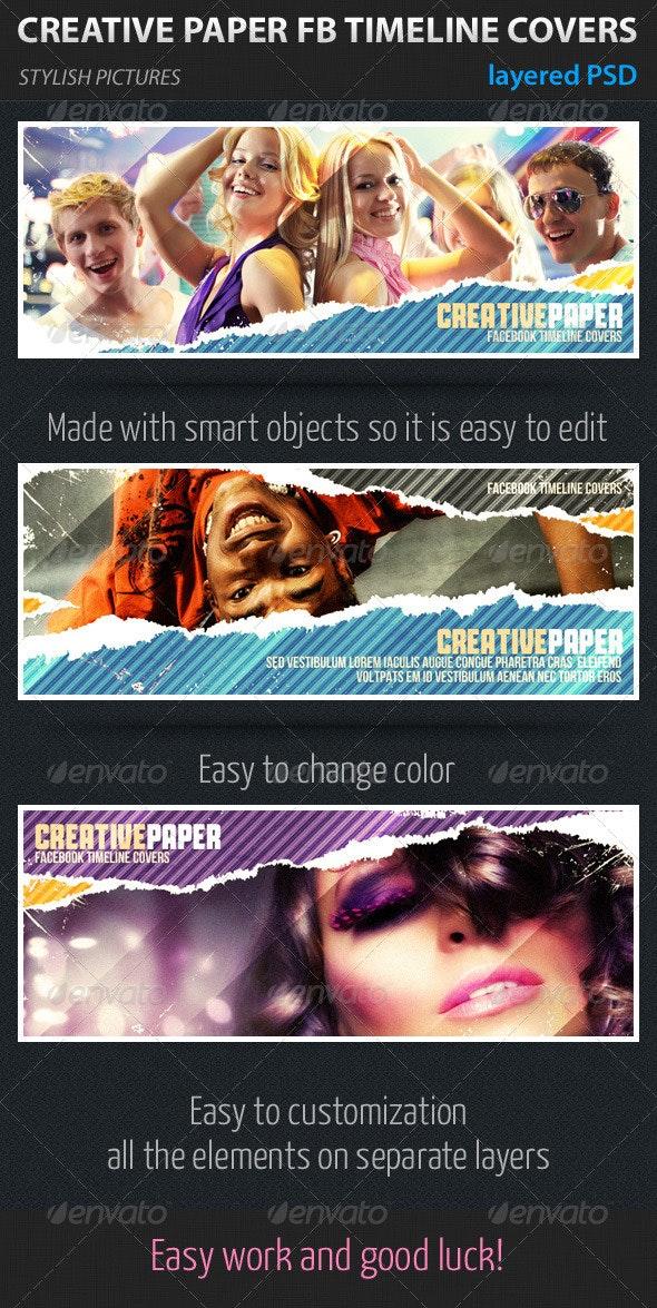 Creative Paper Facebook Timeline Covers - Facebook Timeline Covers Social Media