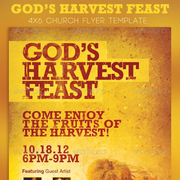 God's Harvest Feast Church Flyer Template