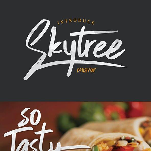 Skytree Script Brush Font