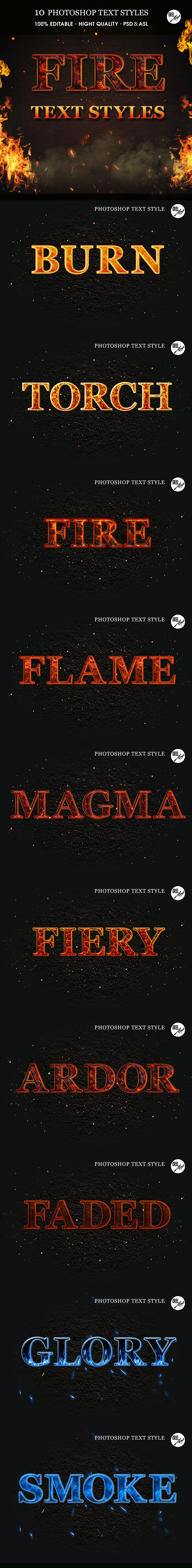 Fire Text Styles - Text Effects Styles