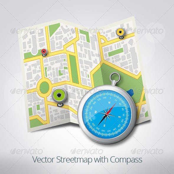 Streetmap with Compass