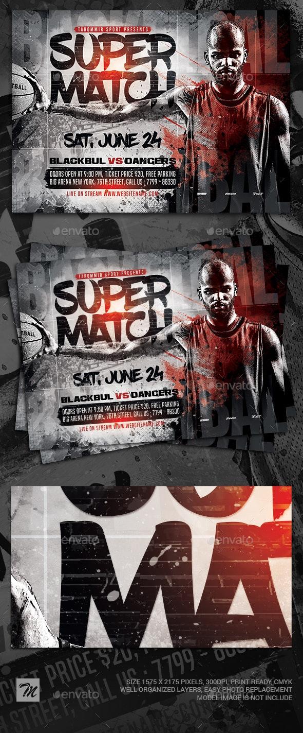 Basketball Super Match Flyer - Sports Events