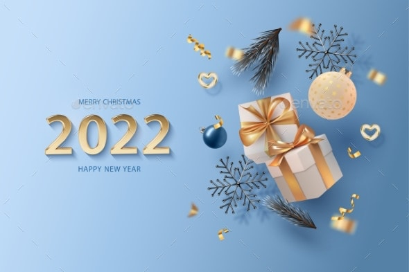 Merry Christmas and Happy New Year Realistic - Christmas Seasons/Holidays