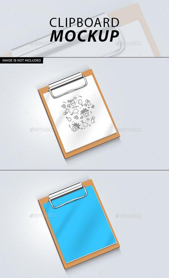 Clipboard Mockup - Product Mock-Ups Graphics