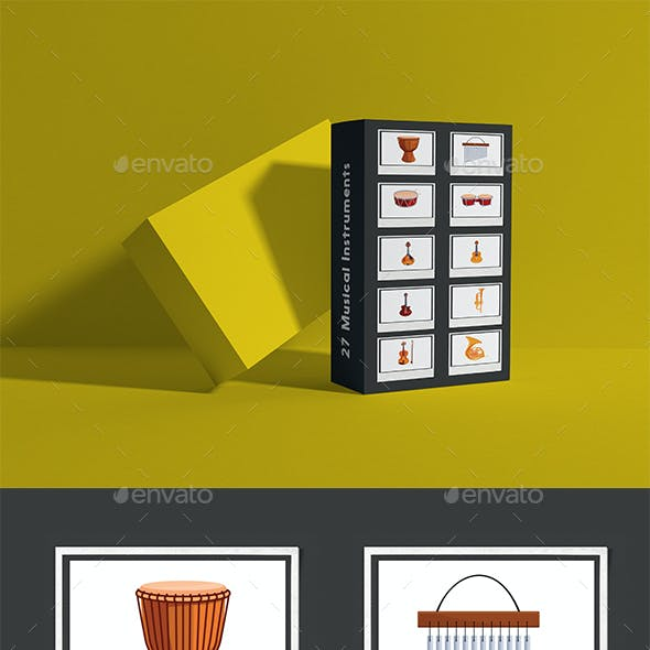 27 Musical Instruments Elements