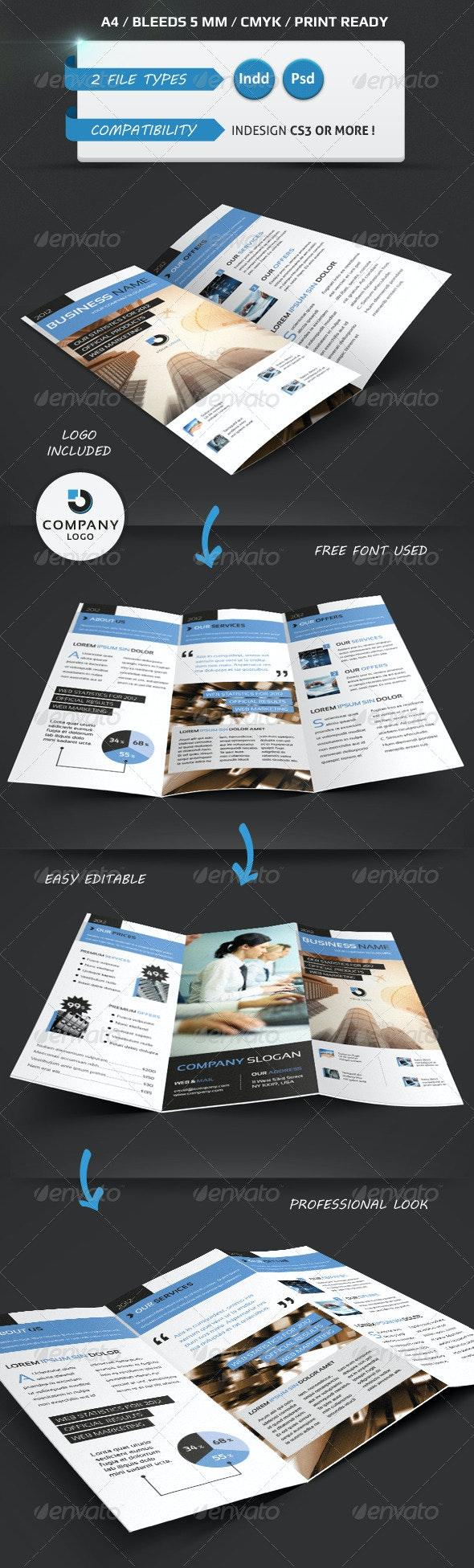Modern Trifold Brochure A4 - Brochures Print Templates