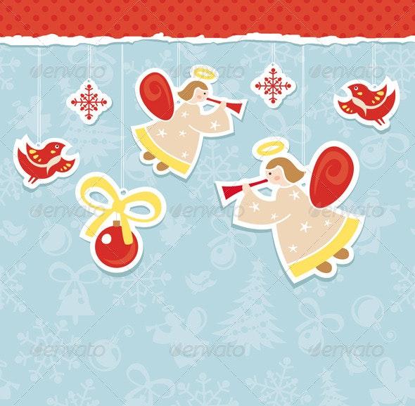 Abstract Christmas Card - Christmas Seasons/Holidays