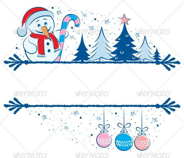 Snowman Frame - Borders Decorative