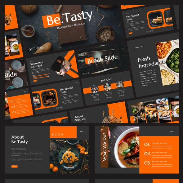 Be.Tasty Powerpoint Presentation Template