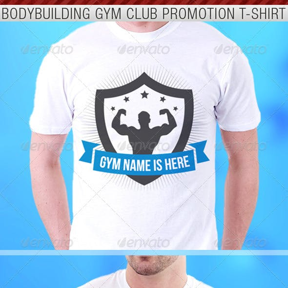 Bodybuilding Gym Club Promotion T-Shirt Template